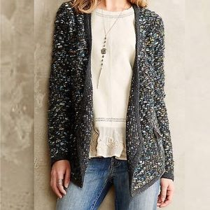 Anthropologie Moth Open Chunky Wool Blend Cardigan